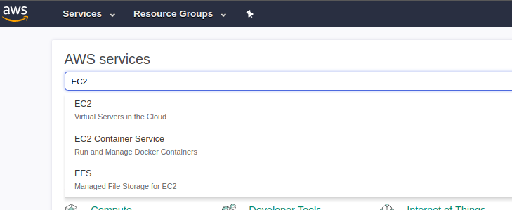 AWS EC2 Search